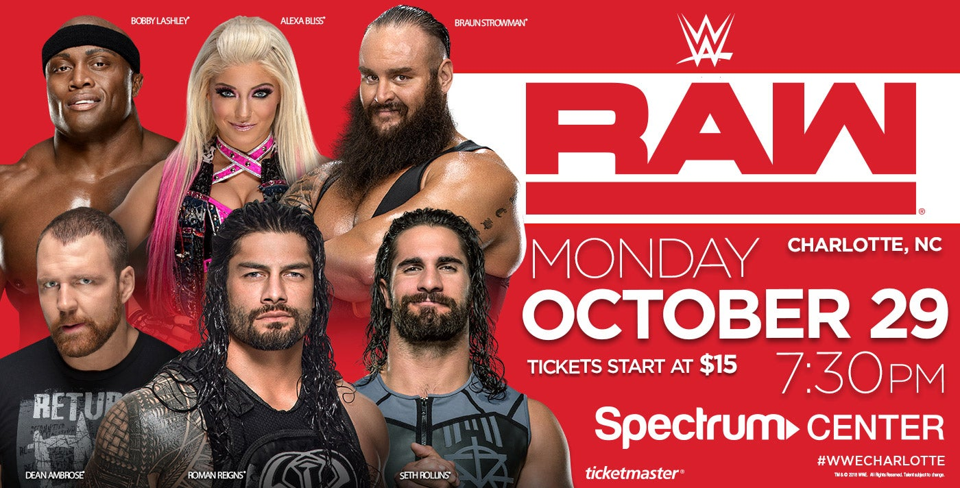 Wwe monday night raw spectrum center charlotte - Monday night raw images ...