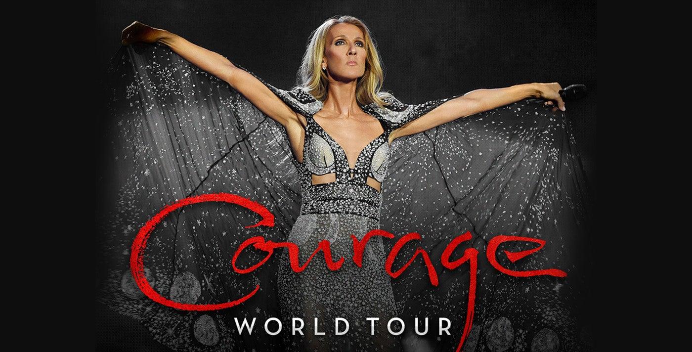 "Los Angeles Parking Tickets >> Celine Dion ""Courage World Tour"" | Spectrum Center Charlotte"