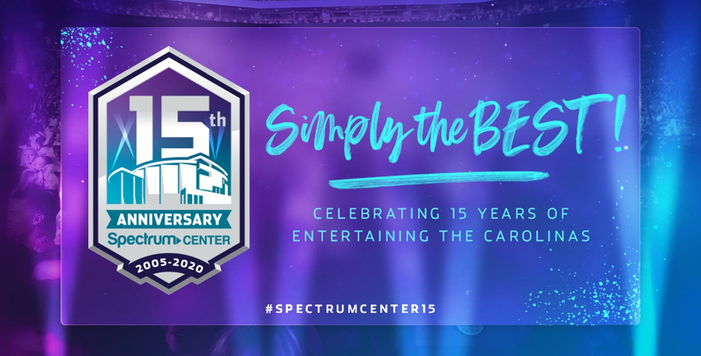 Spectrum Center Celebrates 15th Anniversary
